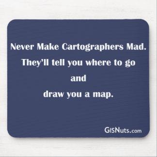 Cartógrafos Mousepad enojado