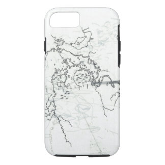 cartography on tracing paper iPhone 8/7 case