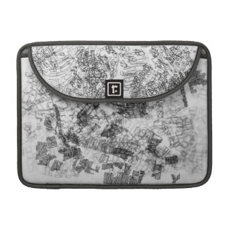 cartography on tracing paper MacBook pro sleeve