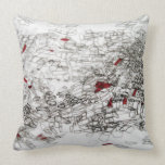 cartography on tracing paper throw pillow