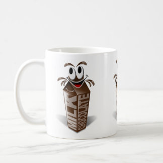 Carton and cartoon chocolate milk coffee mug
