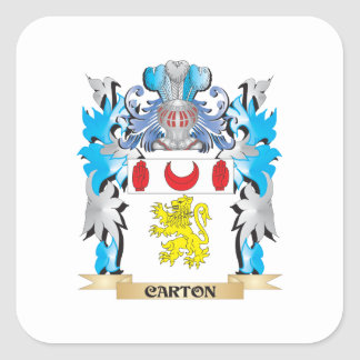 Carton Coat of Arms - Family Crest Square Sticker