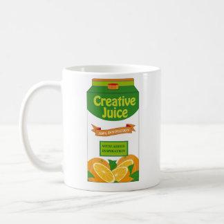 Cartón creativo del jugo taza clásica
