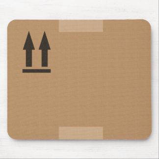 cartón de embalaje tapete de ratón