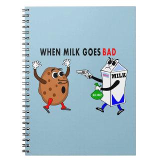 cartón de la leche de la imagen y cuaderno tontos
