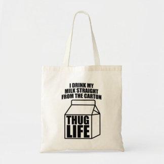 Cartón de la leche de la vida del gamberro bolsa tela barata