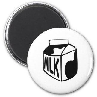 Cartón de la leche imán redondo 5 cm