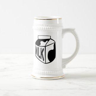 Cartón de la leche jarra de cerveza