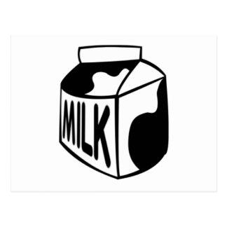 Cartón de la leche tarjeta postal