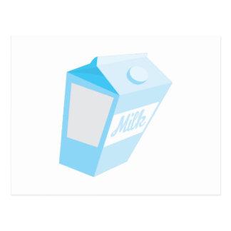 Cartón de la leche postales