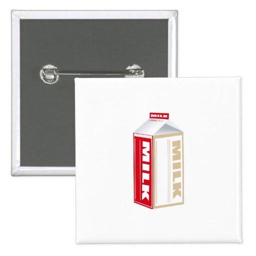 cartón de leche entera pin cuadrada 5 cm