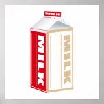 cartón de leche entera poster