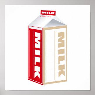 cartón de leche entera póster