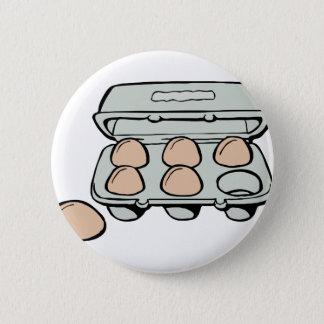 Carton of Brown Eggs Button