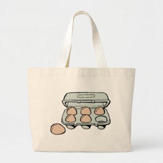 Carton of Brown Eggs Large Tote Bag