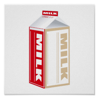 carton of whole milk posters