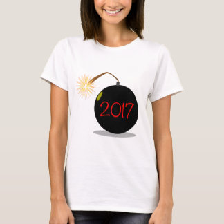 Cartoon 2017 New Year Bomb T-Shirt