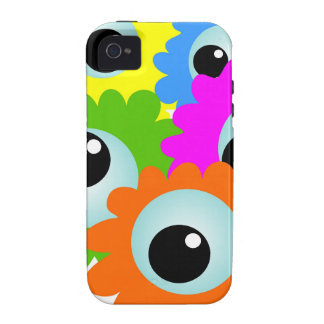 cartoon-268508 cartoon, eyes, flowers, nature, wac Case-Mate iPhone 4 case