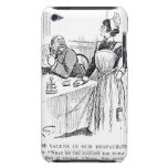 Cartoon about an educated waitress barely there iPod cover
