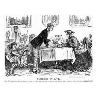Cartoon about Elizabeth Garrett Anderson, first Postcard