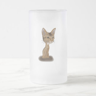 Cartoon Aby Frosted Glass Beer Mug