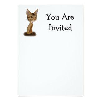 Cartoon Aby 5x7 Paper Invitation Card
