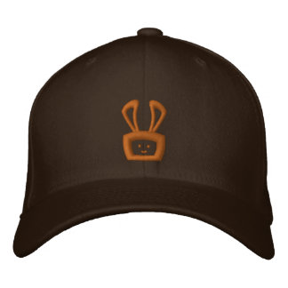 Cartoon Acid Oscar the Bunny (Brown Logo) Embroidered Hat