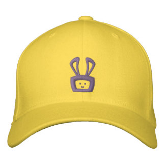Cartoon Acid Oscar the Bunny Hat (Purple Logo) Embroidered Hats