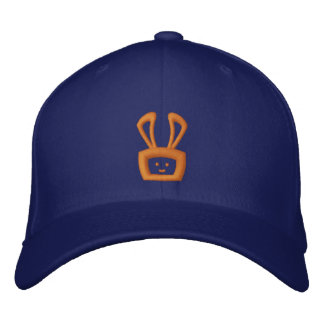Cartoon Acid Oscar the Bunny (Orange Logo) Embroidered Baseball Caps