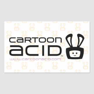 Cartoon Acid Stickers (Black)
