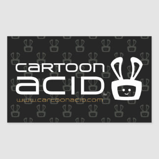 Cartoon Acid Stickers (White)