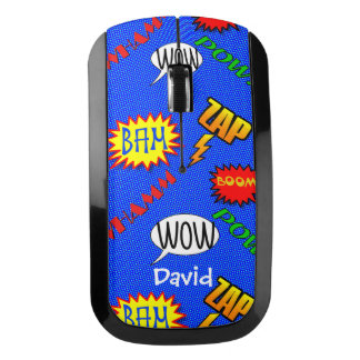 Cartoon Action Text Wireless Mouse