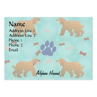 Cartoon Afghan Hound Large Business Card
