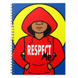 Cartoon African American Boy Wearing Hoodie Notebook