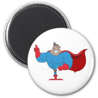 Cartoon African American Hero Magnet
