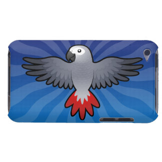 Cartoon African Grey / Amazon / Parrot Barely There iPod Cover
