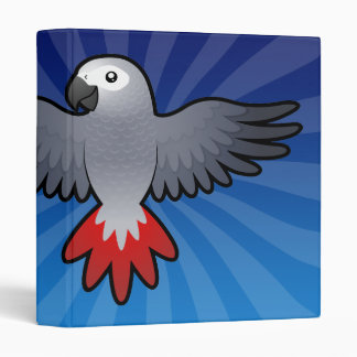 Cartoon African Grey / Amazon / Parrot Binder