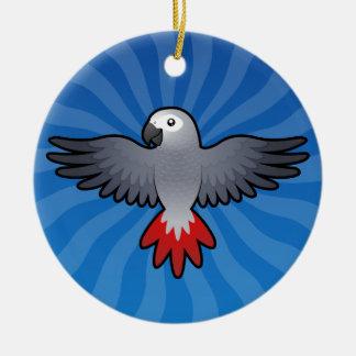Cartoon African Grey / Amazon / Parrot Ceramic Ornament