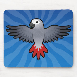 Cartoon African Grey / Amazon / Parrot Mouse Pad