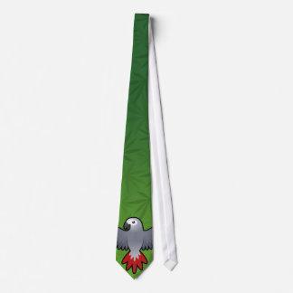 Cartoon African Grey / Amazon / Parrot Neck Tie