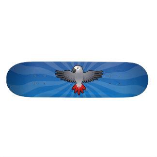 Cartoon African Grey / Amazon / Parrot Skateboard Deck