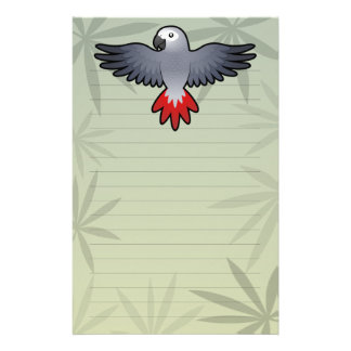 Cartoon African Grey / Amazon / Parrot Stationery
