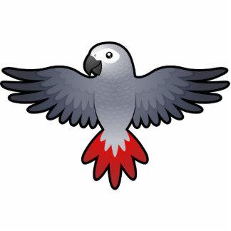 Cartoon African Grey / Amazon / Parrot Statuette