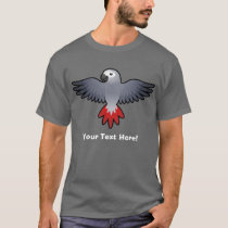 Cartoon African Grey / Amazon / Parrot T-Shirt