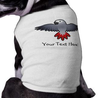 Cartoon African Grey / Amazon / Parrot T-Shirt