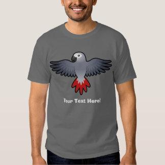Cartoon African Grey / Amazon / Parrot Tee Shirt