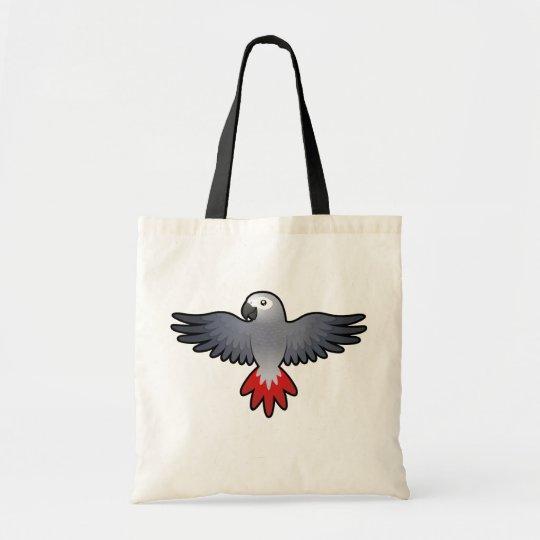 Cartoon African Grey / Amazon / Parrot Tote Bag