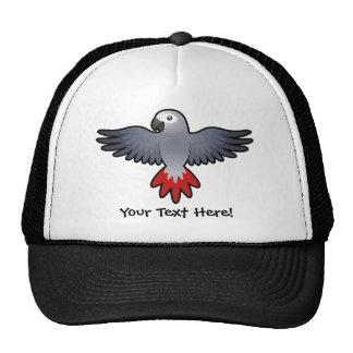 Cartoon African Grey / Amazon / Parrot Trucker Hat
