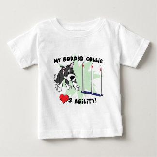 Cartoon Agility Border Collie Baby's T-Shirt