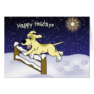 Cartoon Agility Dog Christmas Card
